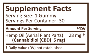 Plus CBD Oil Gummies Cherry Mango 5mg 30ct