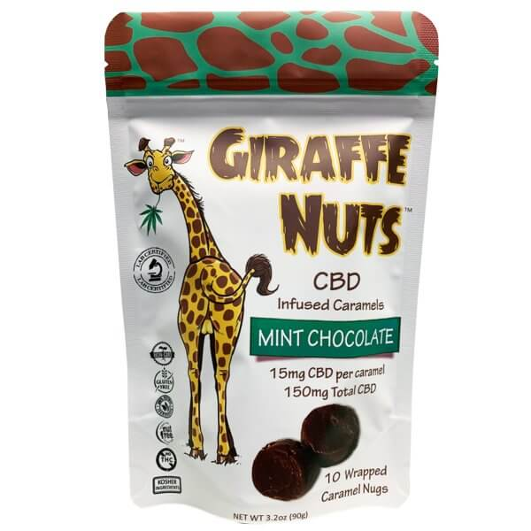 Giraffe Nuts Infused Caramels | Mint Chocolate
