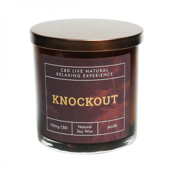 Knockout Musck Candle Front View
