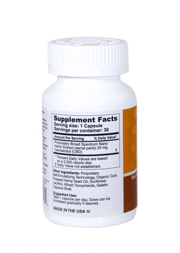 Hemp Gel Capsules 750 mg side