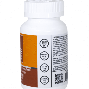 Hemp Gel Capsules 750 mg left side