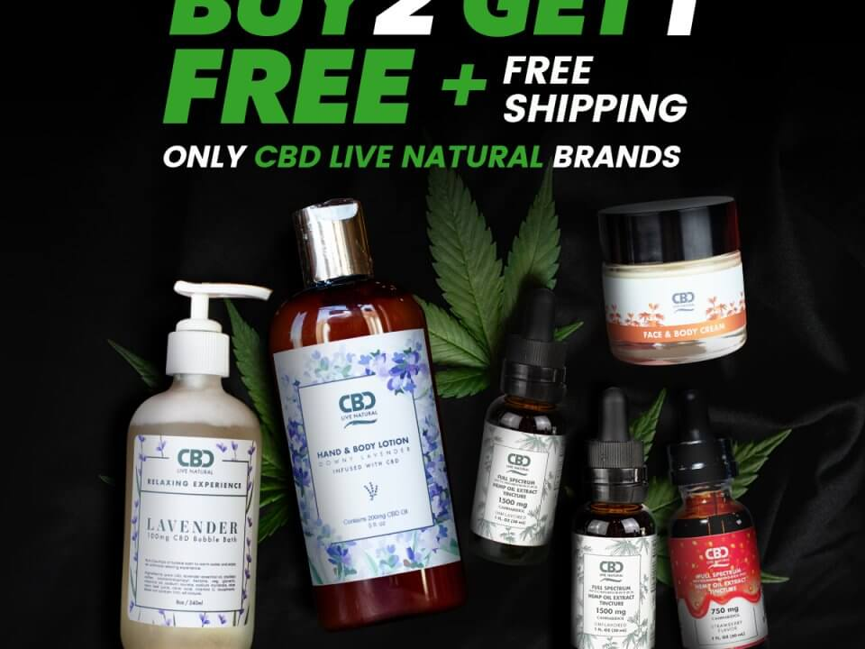 CBD Live Natural Memorial Day sale