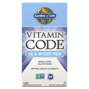 Vitamin Code 50 and Wiser Men Front